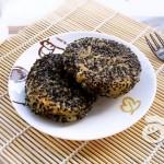 黑芝麻香葱糯米饼