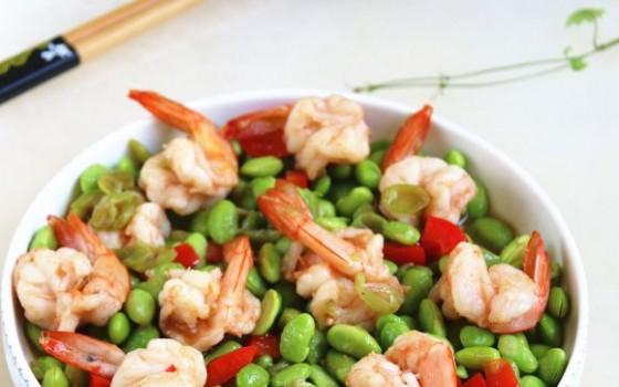 毛豆凤尾虾