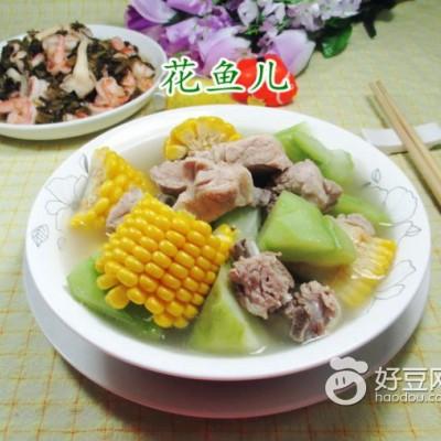 玉米佛手瓜排骨汤
