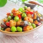 辣炒豌豆鸡丁