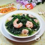 虾仁炒木耳菜