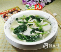 白玉菇菠菜煮年糕