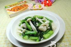 白玉菇炒油菜蕻