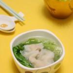 潮汕鱼饺生菜汤
