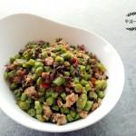 豇豆炒橄榄菜肉末
