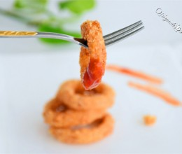 燕麦片裹炸鱿鱼圈