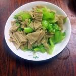 芥菜炒腐竹