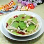 白玉菇炒莴笋