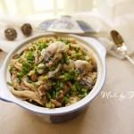 牡蠣双菇炊饭