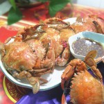 清蒸石夹红蟹