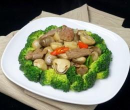 蚝油草菇牛肉