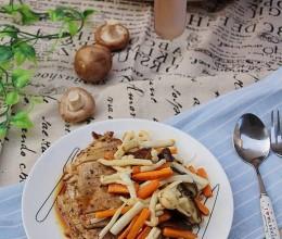猪排蘑菇沙拉