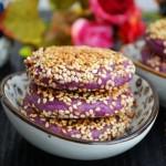 紫薯花生馅芝麻饼#本