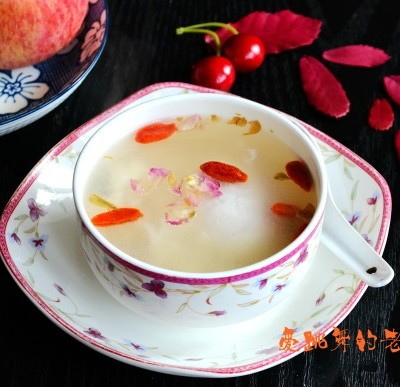 玫瑰花酒酿水铺蛋#本