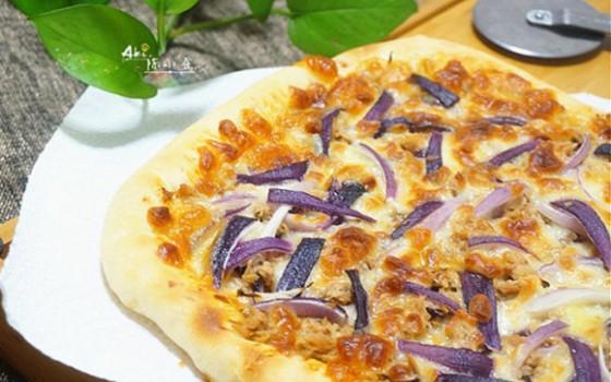 洋葱金枪鱼披萨