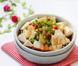 葱油嫩豆腐