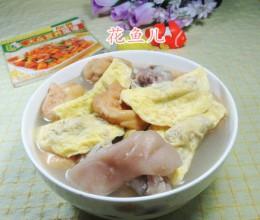 油豆腐蛋饺猪蹄汤