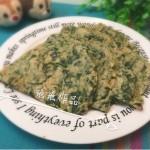 荞麦菠菜鸡蛋饼