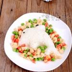 海豚豌豆鸡肉丁盖饭