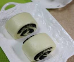 黑芝麻酱糖花卷