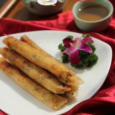 龙利鱼韭菜春卷