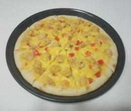 芝士脆鸡披萨