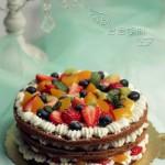 鲜果可可裸蛋糕
