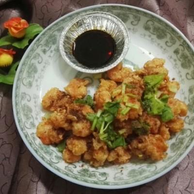 五香椒盐虾