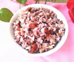 黑米枸杞米饭
