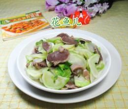 鹅胗炒儿菜