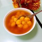南瓜花朵汤圆