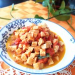 西红柿炒冻豆腐