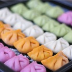 彩色蔬菜汁饺子
