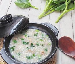 肉末青菜粥