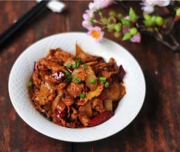 香辣菜头炒肉片