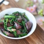 豬血炒韭菜