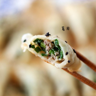 韭菜鲜肉锅贴
