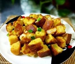 虾仁炒面包