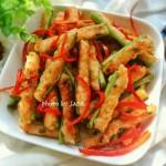 虾肉酿豆角