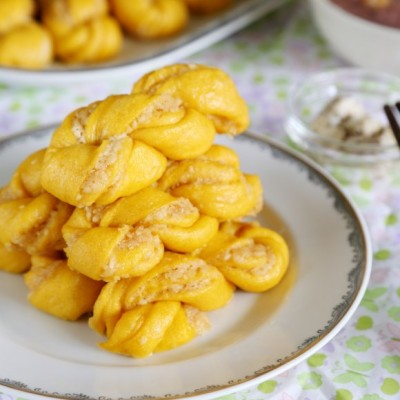 芝麻馅燕麦红薯麻花卷