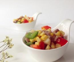 玉米青红椒炒肉丁