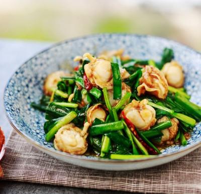 扇贝炒韭菜