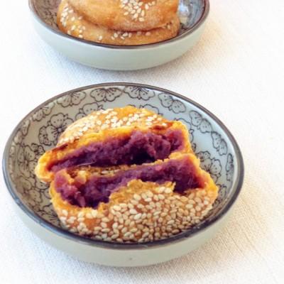 南瓜双薯麻饼