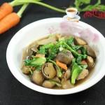 青菜草菇炒肉片