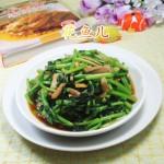五花肉炒茼蒿