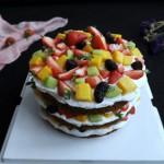 可可水果裸蛋糕