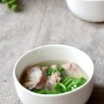 小排荠菜汤