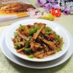 尖椒五花肉炒水笋