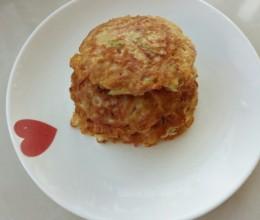 萝卜丝鲜虾鸡蛋饼