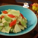 莴苣炒笋片